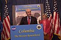 National Aeronautics and Space Administration Administrator Sean O'Keefe speaking at Department of Interior headquarters, Washington, D.C. event marking the naming of Columbia Point - DPLA - fecddf8f69c96a3c605b1255d60998cc.jpg