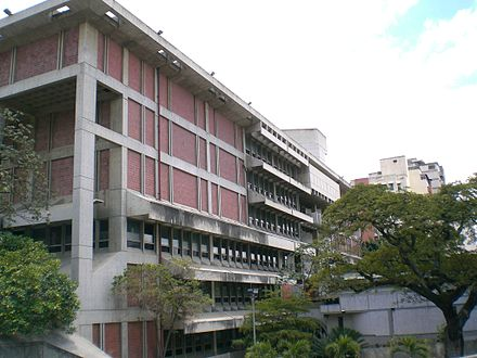 The National Library of Venezuela in Caracas. National Library of Venezuela building 1.jpg