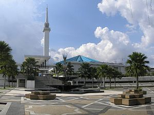1965 in Malaysia - The Masjid Negara, National Mosque of Malaysia, one of the largest mosques in East Asia