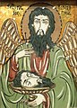 National Museum of Ethnology, Osaka - Glass icon (St. John the Baptist) - Romania - Made by A.Motronea - Collected in 1997.jpg