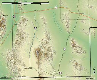 Playas Valley - Image: New Mexico bootheel topo v 1