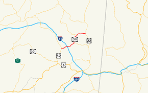 NY 311 follows a southwest–northeast alignment from NY 52 in Lake Carmel to NY 22 in Patterson. It intersects Interstate 84 northeast of Lake Carmel.