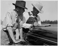Newberry County, South Carolina. Mr. C. C. Spoon signing receipt for kudzu planted on his farm by CC . . . - NARA - 522697.tif