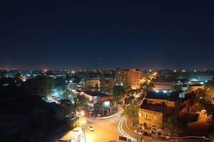 Geography of Niger - Image: Niamey night