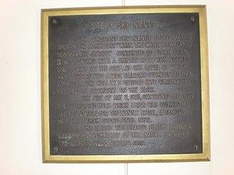 Niantic (whaling vessel) - Niantic plaque (1919)