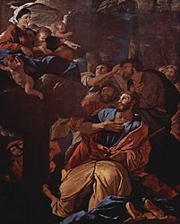 Nicolas Poussin: The Apparition of the Virgin to Saint James the Great