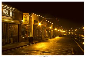 National Register of Historic Places listings in Cobb County, Georgia - Image: Nighttime at Downtown Acworth