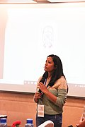 Nilam presenting on Gender Gap session- First day.jpg