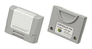 Nintendo 64 accessories - A Nintendo-brand Controller Pak.