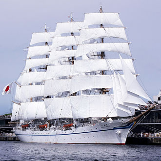 Barque - Four-masted barque Nippon Maru II