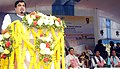 Nitin Gadkari addressing the gathering at the dedication of the New Brahmaputra Bridge to the Nation and the foundation stone laying of Development of River Barak as National Waterways No.16 Shipping and Navigation.jpg