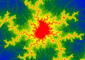 Fractal art - A detail from a non-integer Multibrot set