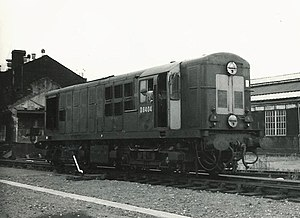 Stratford TMD - North British Type 1 D8404 (Class 16) at Stratford in the 1960s