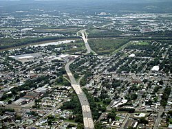 A picture of PA 309 as it travels through Luzerne and the surrounding communities. Luzerne is pictured in the foreground.