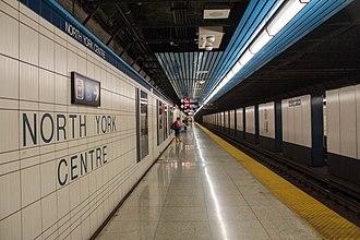 North York Centre station - Image: North York Centre Station Platform 01