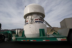 English: Nuclear Waste Container coming out of...