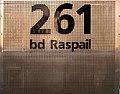 Number 261, Boulevard Raspail, Paris 2007.jpg