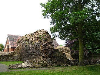 Nuneaton - Some ruins of Nuneaton Priory from which the town gained its name. Part of the church was reconstructed in the 19th and early 20th centuries