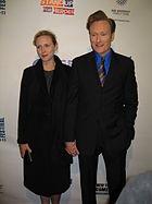 Conan O'Brien with his wife Liza in 2007