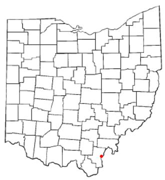Gallipolis, Ohio - Image: OH Map doton Gallipolis