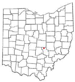 Location of Glenford, Ohio