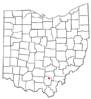 Wellston, Ohio - Image: OH Map doton Wellston