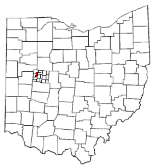 Washington Township, Logan County, Ohio - Image: O Hmap hilite Washington Twp Logan Co