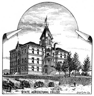 History of Oregon State University - Benton Hall circa 1889