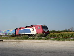ADtranz diesel locomotive 220013 of Hellenic R...