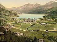 Oberes Engadin Maloja und Silsersee um 1900