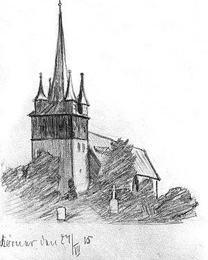 Körner, Germany - Church St. Wigberti at Körner (1915)