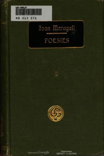 File:Obres completes d'En Joan Maragall - Poesies II (1918).djvu
