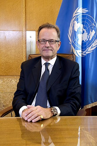 United Nations Office at Geneva - Michael Møller, Denmark, Director-General since 2013.