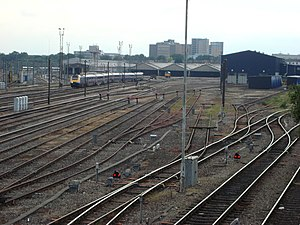 Old Oak Common TMD - First Great Western High Speed Train leaving empty stock for service to London Paddington.