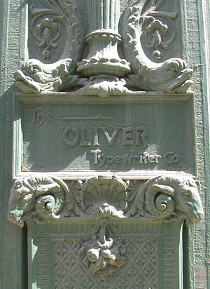 Oliver Typewriter Company - Company ornamentation on the Oliver Building