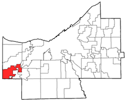 Location of Olmsted Township in Cuyahoga County