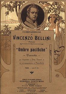 Frontespizio dell'edizione Venturini (1901) della cantata Imene (intitolata dall'incipit
