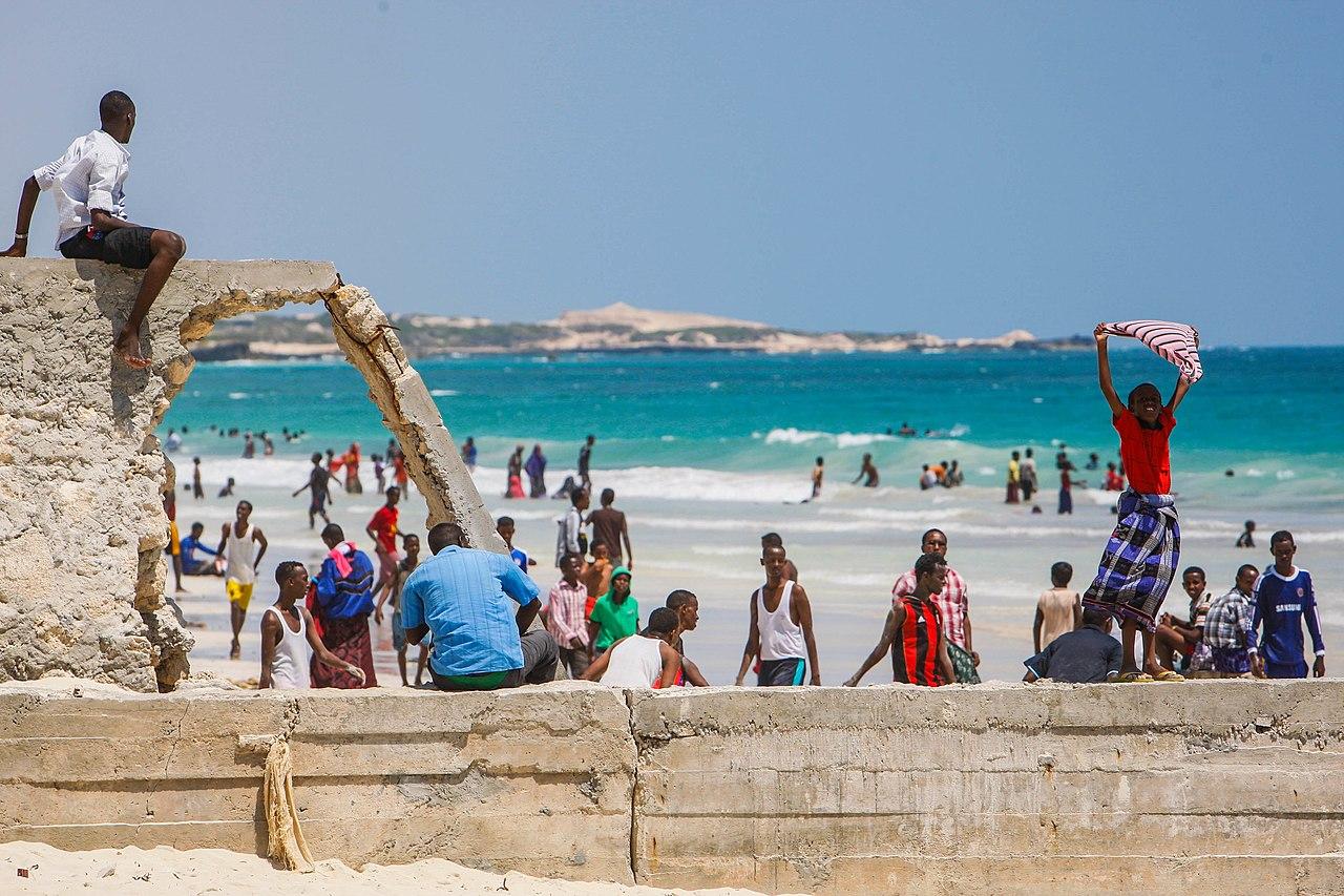 On foot patrol in Mogadishu with an AMISOM Formed Police Unit 18 (8171808002).jpg