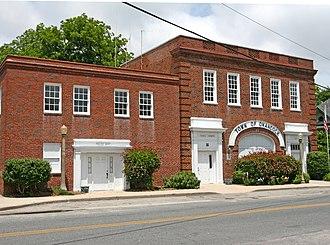 Onancock, Virginia - The Town Hall and Police Department of Onancock