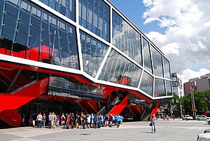 Sport in Slovakia - Ondrej Nepela Arena, the premier ice hockey stadium in the country located in Bratislava