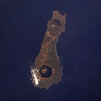 Nemo Peak - Onekotan Island, with Nemo Peak at top (north) and Tao-Rusyr Caldera at bottom.