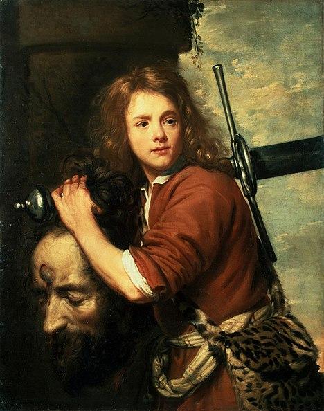 Fichier:Oost the Elder, Jacob van - David with the Head of Goliath - 1648.jpg