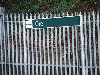 Ore railway station - Image: Ore 6