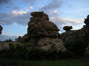Baahubali (franchise) - Orvakal Rock Gardens in Kurnool where principal photography began.