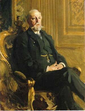Oscar II of Sweden - Portrait of Oscar II by Anders Zorn 1898