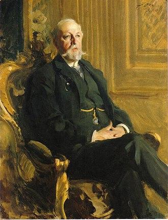 Oscar II of Sweden - Portrait of Oscar II by Anders Zorn 1898