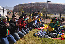 Outside Soccer City before South Africa & Mexico match at World Cup 2010-06-11 4.jpg