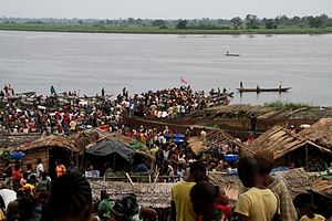 Congo River - The town of Mbandaka is a busy port on the banks of the Congo River.