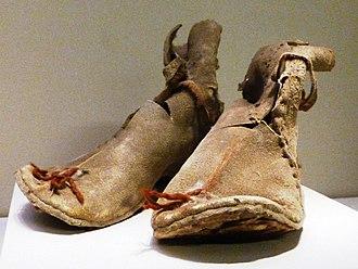Boot - Oxhide boots from Loulan, Xinjiang, China. Former Han dynasty 220 BC – AD 8.