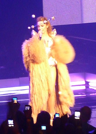 In Your Eyes (Kylie Minogue song) - Minogue performing the song during her For You, For Me Tour, 2009.